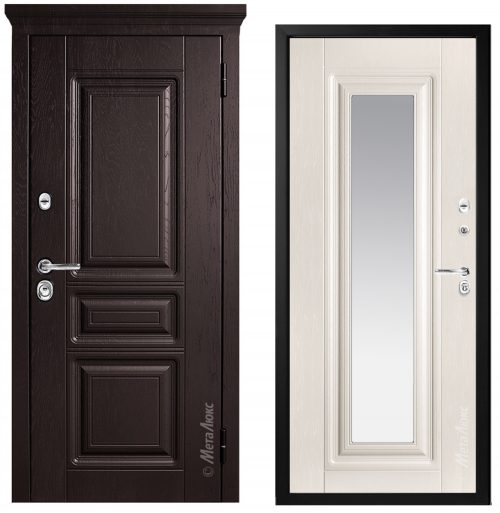 Metāla durvis ar spoguli