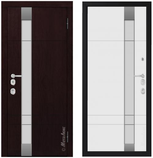Metāla durvis mājai CM1713/14 ar stiklu
