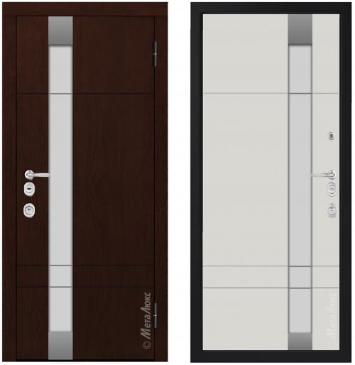 Metāla durvis mājai CM1713/6 E2 ar stiklu